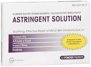 Tagi Pharma Astringent Solution Powder Packets - 12 Packets, Pack of 4 by TAGI Pharma Inc.