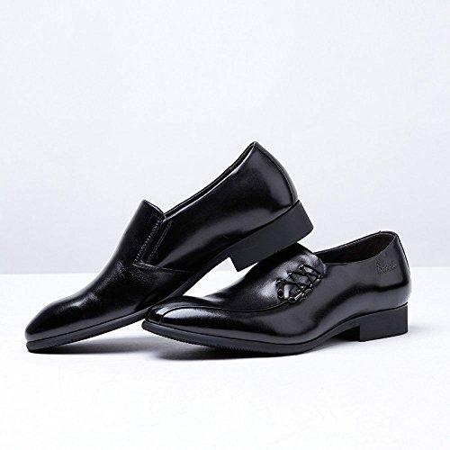 Chaussures Noir Cuir LEDLFIE pour en Hommes Hommes Hommes dwqFxZgX at sewer a4cf07