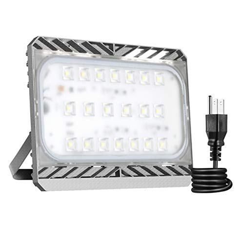LED Flood Light Outdoor, STASUN 9000lm 100W LED Security Lights, 3000K Warm White, Built with CREE LED Chips, Waterproof, Great for Yard Garage Parking Lot
