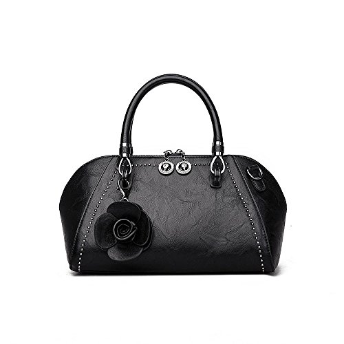 Main Sac Boulettes à Sacs Fashion AJLBY Black Rétro Style Dames Paquet Fashion Style Portable De Marée BPvqSIwS