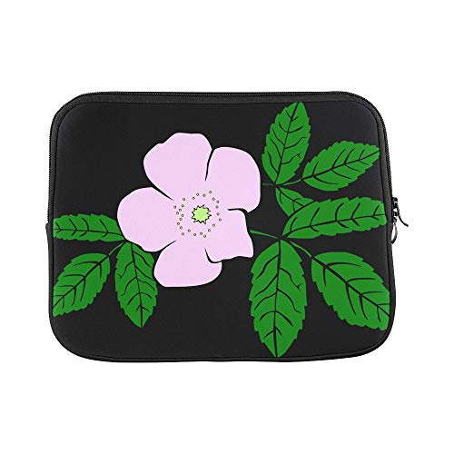 ose Purple Flower Leaves Sleeve Soft Laptop Case Bag Pouch Skin for MacBook Air 11