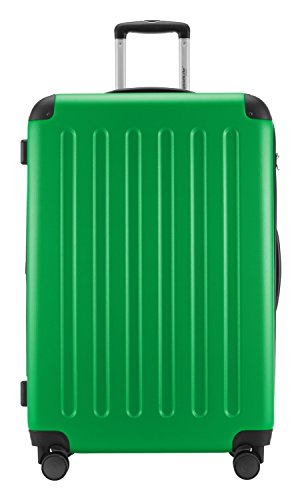 HAUPTSTADTKOFFER® Hartschalen Koffer SPREE 1203 · 3 Koffergrößen (49Liter · 82Liter · 128Liter) · MATT · TSA Zahlenschloss (3er Set, Apfelgrün)