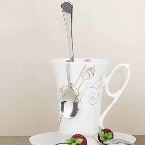 - Gozebra(TM) Unique Curved Tea Coffee Spoon Drink Condiment Spoon Teaspoon Home Tool