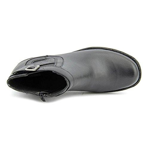 Clarks para mujer del silbido del arbusto de arranque Black Smooth Leather