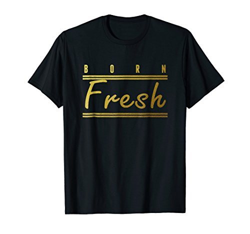 (Born Fresh Gold T-Shirt Sneaker Heads Basketball shoes fresh)