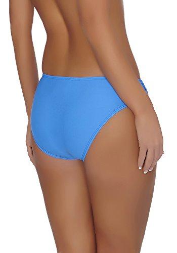 aQuarilla Parte Inferiore del Bikini para Mujer AQ37 Azul Oscuro