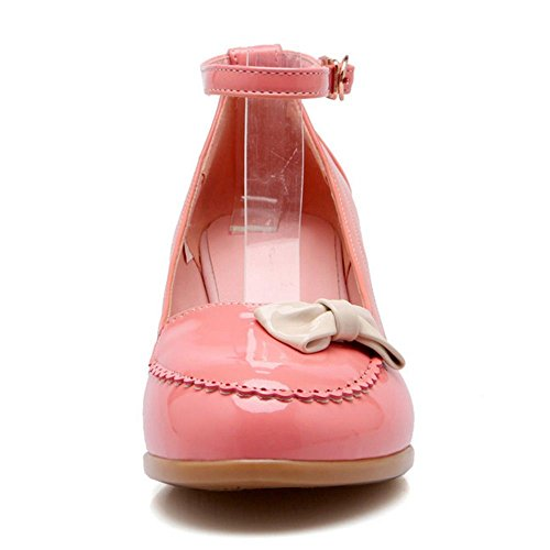 Blue Tie Shoes Strap KemeKiss Sweet Wedge Lovely Bow Women Ankle Heel qzIwvT