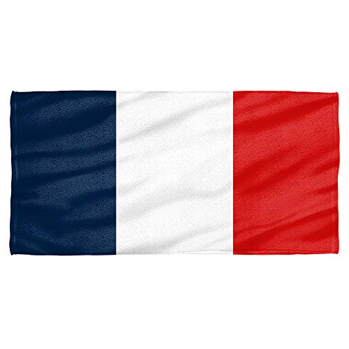 French Beach Towel - French Flag Towel (30x60)