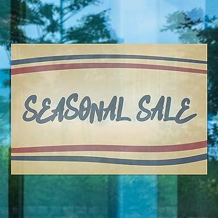 Nostalgia Stripes Window Cling Seasonal Sale 5-Pack CGSignLab 30x20