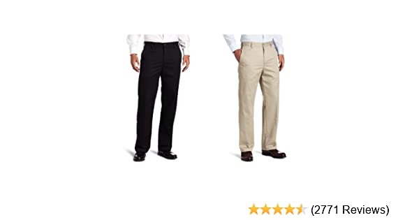 IZOD Mens American Chino Flat Front Straight Fit Pant