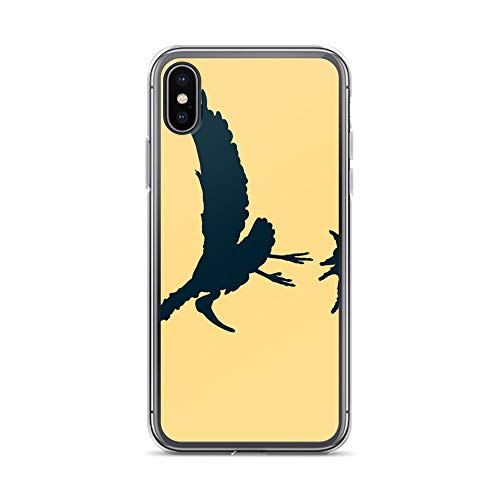 iPhone X/XS Case Anti-Scratch Creature Animal Transparent Cases Cover Sacred Ibis Bird Fly in The Sky Animals Fauna Crystal Clear ()