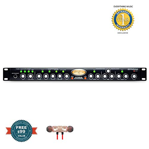 PreSonus Studio Channel Vacuum-Tube Channel Stripincludes Free Wireless Earbuds - Stereo Bluetooth In-ear and 1 Year Everything Music Extended Warranty