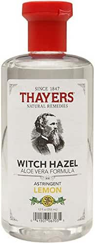 Thayers Witch Hazel Astringent with Aloe Vera Formula, Lemon, 12 Fluid Ounce (Pack of 2)