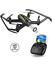 DROCON FPV Drone 720P HD Camera RC Quadcopter with Wide Angle WIFI Camera Live Video Altitude Hold Headless Mode for Beginners