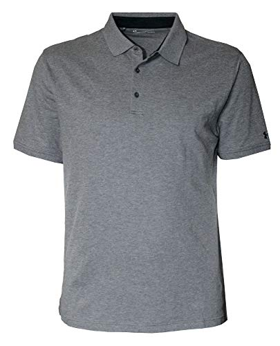 Under Armour Men's Solid Loose Fit Polo Active Shirt UA 1319027 (Charcoal Light Heather, -