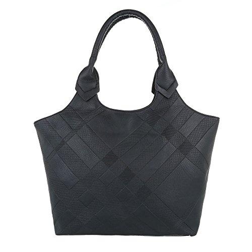 Ital-Design - Bolso de asas de Material Sintético para mujer negro