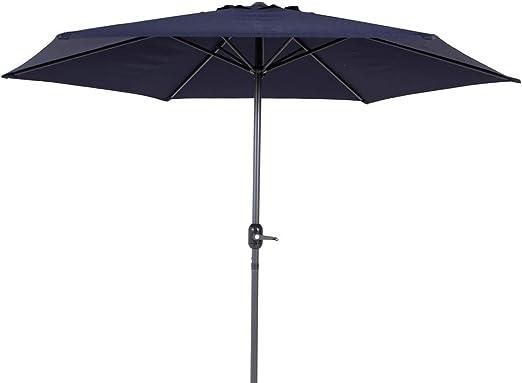 Parasol sombrilla azul de aluminio de 270 cm: Amazon.es: Jardín