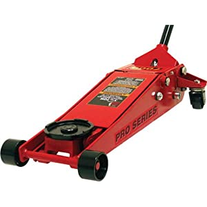 Torin Big Red Low Profile Hydraulic Floor Jack: Dual Piston Pump, 3.5 Ton Capacity