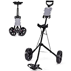 DescriptionThis is our new foldable 2 wheel golf trolley, which is perfect for golf exercising. It allows you to transport golf to clubs or golf courses. Foldable design with 2 removable wheels enhances effortless mobility and storage. Welcom...
