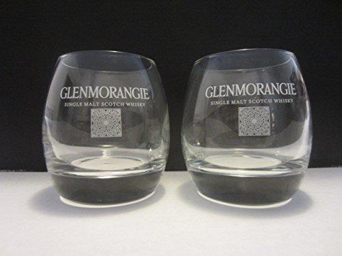 Set of 4 Glenmorangie Single Malt Scotch Whisky Cadboll Stone Logo Round Lowball Rocks (Scotch Single Malt Whisky)