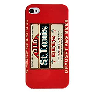 JJE Beer Style Hard Case for iPhone 4/4S