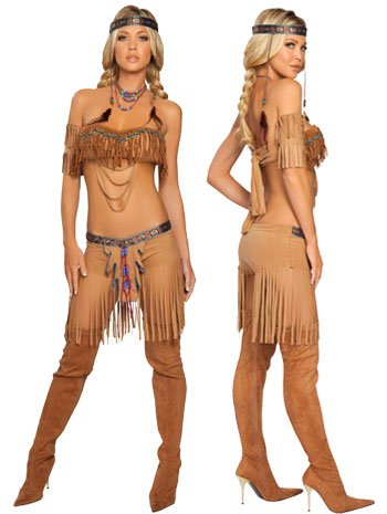 Cherokee Warrior Costume - Small/Medium - Dress Size 2-6 (Warrior Girl Costume)