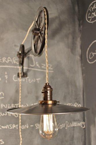 Draftsmans Lamp - Vintage Industrial Pulley Lamp - The Draftsman Light