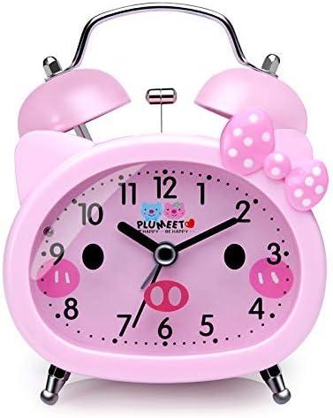 Plumeet Reloj Despertador con Campanas gemelas para Ni&