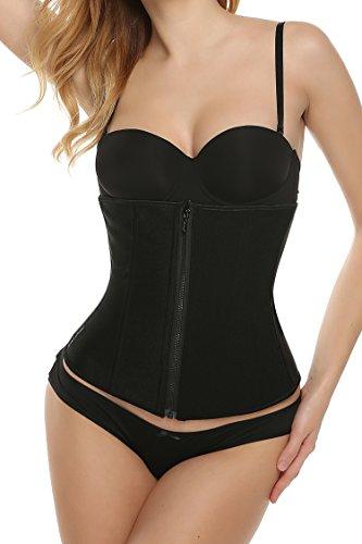 Ekouaer Women's Workout Waist Trainer Vest for Weight Loss(Black,L)