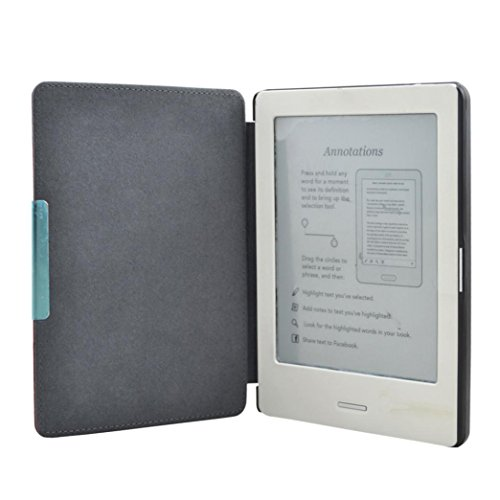 Promisen Unique Design Magnetic Auto Sleep Leather Cover Case For Kobo Touch N905 A B C eReader 6inch+Free Gift at Electronic-Readers.com