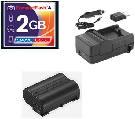 SDENEL15 Battery SDM-1536 Charger T44654 Memory Card Nikon D800 Digital Camera Accessory Kit Includes