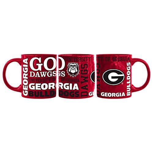 Boelter Brands NCAA 14 oz Georgia Bulldogs Scuplted Slogan Mug by Boelter Brands (Image #1)