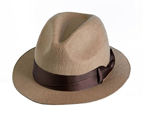 [Forum Novelties Men's Novelty Adult Fedora Hat, Tan, One Size] (Fedora Gangster Hat)