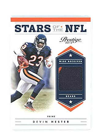 861b00a92 2012 Prestige Stars of the NFL Materials Prime Jersey #44 Devin Hester Bears