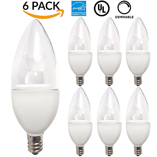 PACK Candelabra Equivalent DECORATIVE DIMMABLE