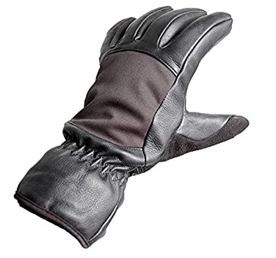 Deerskin Leather Winter Gloves- 3M Thinsulate Cold Weather Glove w/Warm Fleece Liner