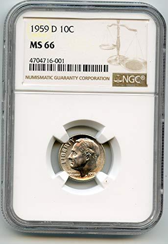 1959 D Roosevelt Dimes Dime MS-66 NGC