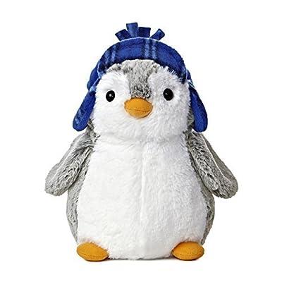 "Aurora Pompom 9"" Penguin Plush from World (Blue Hat): Toys & Games"