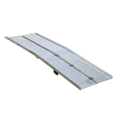 HomCom 8' Folding Portable Suitcase Mobility Wheelchair Threshold Ramp by HOMCOM