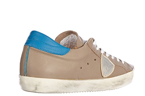 Philippe Model chaussures baskets sneakers homme en cuir classic vintage gris