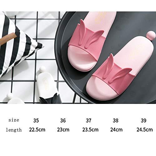 de Noir Lapin Femelles Taille animé Pink Dessin Pantoufles de Couleur AMINSHAP 37EU BqP5w1Itx