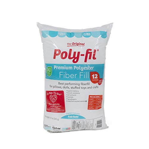 Fairfield FAIPFT12 Fiber Poly Fil Bag, 12 oz, White -