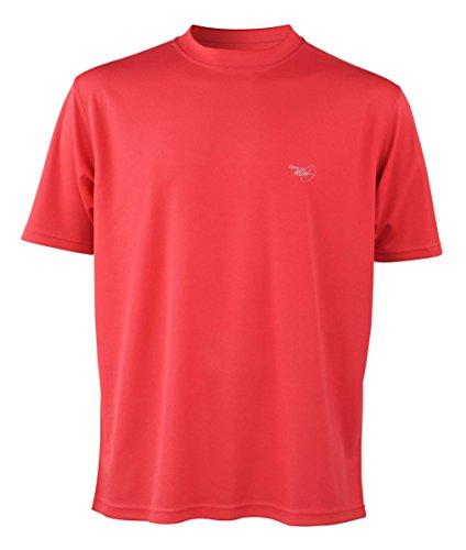 """Time To Run Men's Favourite Short Sleeve Running T Shirt Top XL 45"""" - 47"""" Fire Red"""