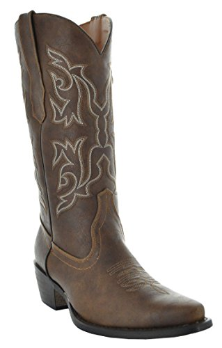 Country Love Round Toe Women's Cowboy Boots W101-1001 (9.5, Brown)