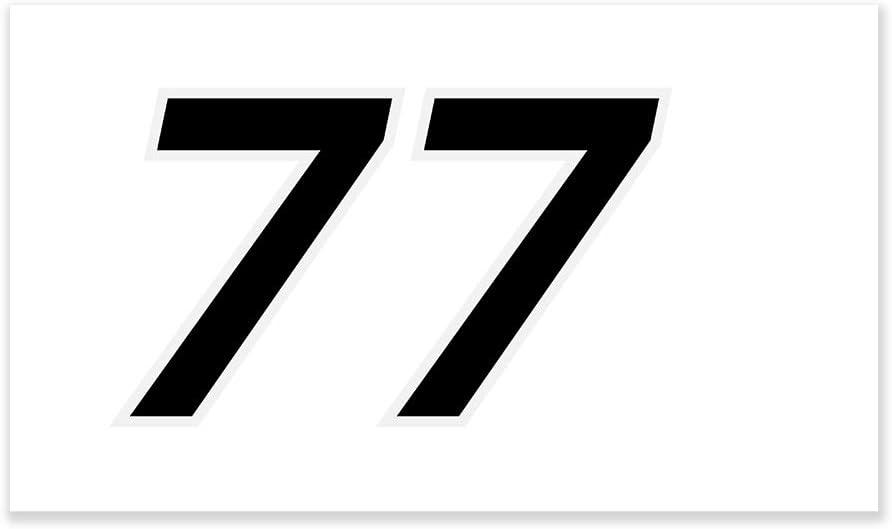 In Black Moto4U Motorcycle Automobile Race Number Stickers Vinyl decal Number 0