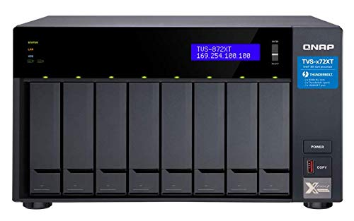 QNAP TVS-872XT-i5-16G-US 8 Bay Thunderbolt 3 NAS with 16GB RAM, 10GbE, M.2 PCIe NVMe SSD slots (Best 8 Bay Nas)