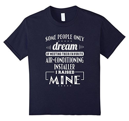 Kids Proud Dad Mom Air-Conditioning Installer T-shirt 8 Navy