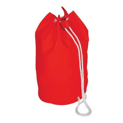 cordón de algodón marinero Bolsa - lona de algodón de lona rojo