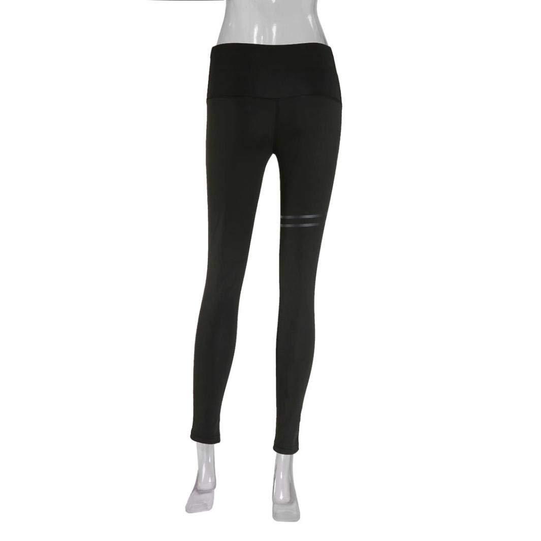 153e5b7452 Amazon.com: GWshop Women Yoga Pants Skinny Gym Fitness Capri Workout Tummy  Control Leggings Pantyhose High Waist Sports Athletic Trouser: Clothing
