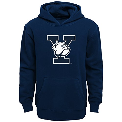 NCAA Yale Bulldogs Kids Primary Logo Fleece Hoodie, Kids Medium(5-6), Dark Navy